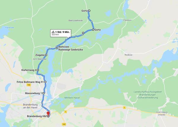 Für eine detailliertere Ansicht von Etappe 2, klicken Sie bitte auf die Karte.