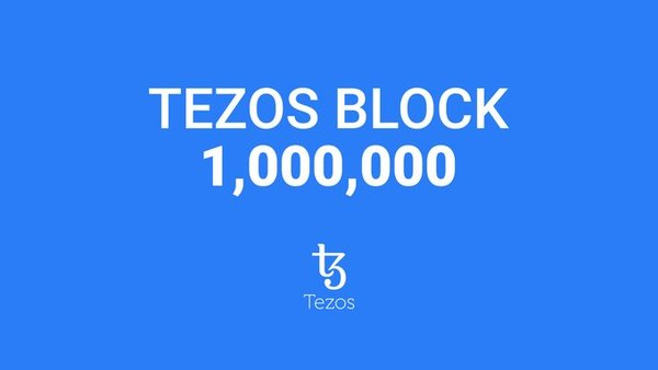 The 1,000,000th block was baked and added to the Tezos blockchain!