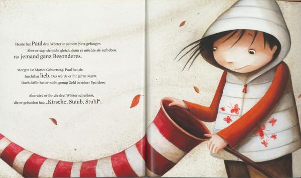"""Blick in """"Die große Wörterfabrik"""" – liebevoll illustriert von Valeria Docampo."""