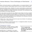 Three Challenges of Distributed Teams