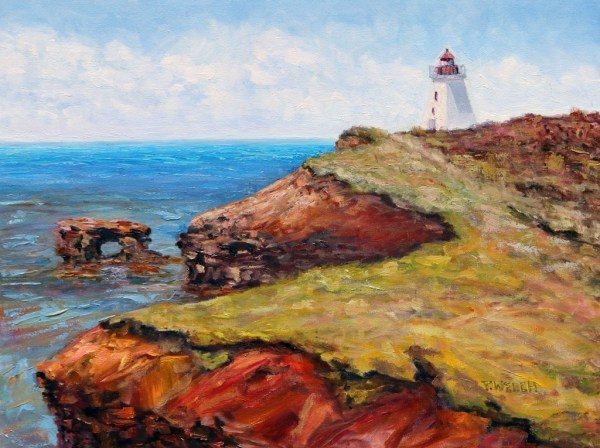 Cap Egmont Lighthouse PEI by Terrill Welch | Artwork Archive