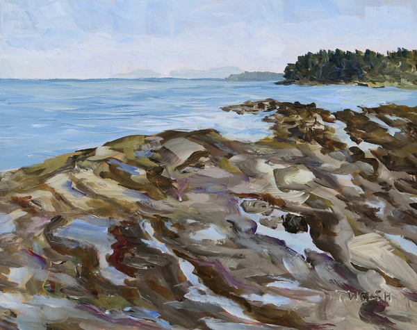 Sold - Another Reef Bay Morning Study by Terrill Welch, acrylic, 8 x 10 inches