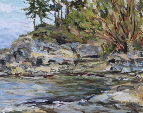 Sold - Bay In Active Pass by Terrill Welch, acrylic, 8 x 10 inches