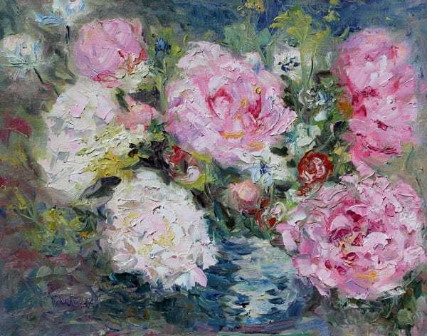 Amber's Peonies by Terrill Welch | Artwork Archive