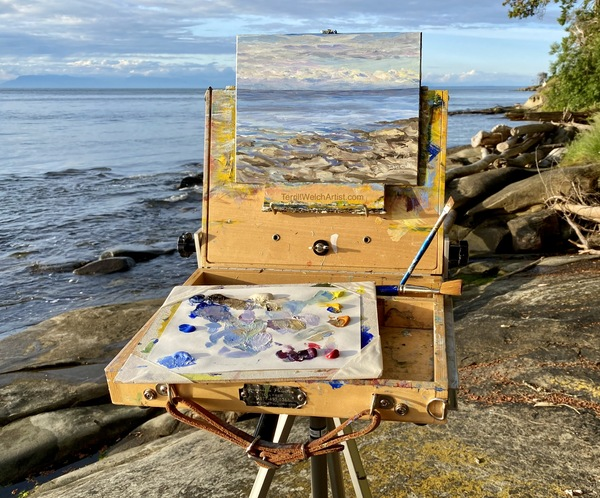 Terrill Welch plein air painting Active Pass