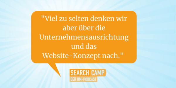 Der vielleicht wichtigste SEO-Faktor: das Website-Konzept [Search Camp Episode 132]
