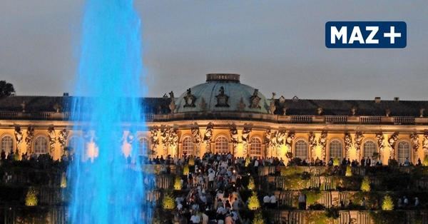Schloss Sanssouci leuchtet rot – eine Warnung