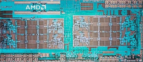 Um chip desenhado pela AMD (e fabricado pela TSMC), com bilhões de transístores.