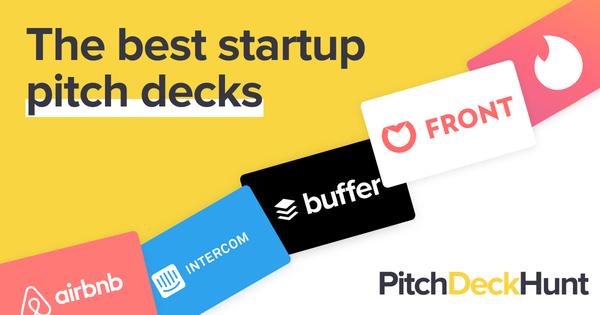 3️⃣ 100+ Pitch Deck voorbeelden van bekende startups