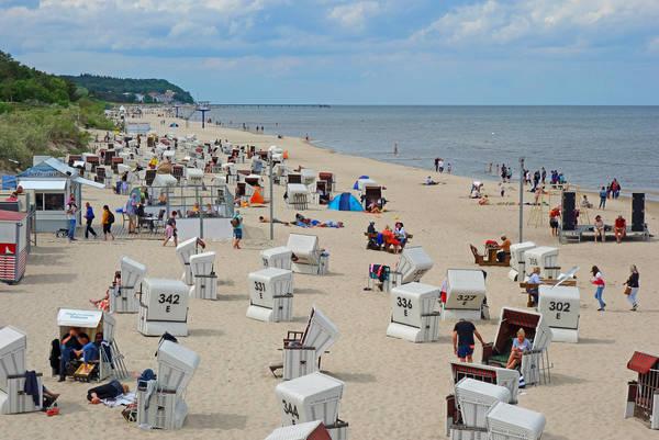 Strandkörbe an der Ostsee. Foto: dpa