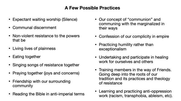 Possible Powerful Practices to Consider