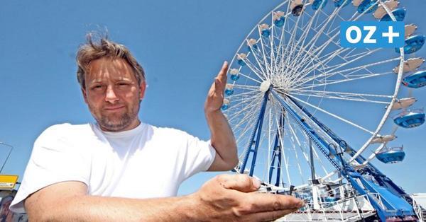 Darum steht in Rostocks Stadthafen plötzlich ein Riesenrad