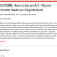 CSUPERB: How to be an Anti-Racist Scientist Webinar Registration