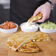 Quesadillas three ways: chicken, steak and veggie