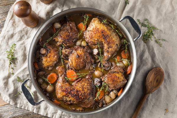 Traditional French Coq au Vin