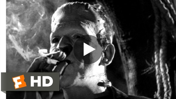 Bride of Frankenstein (3/10) Movie CLIP - Teaching the Monster Manners (1935) HD