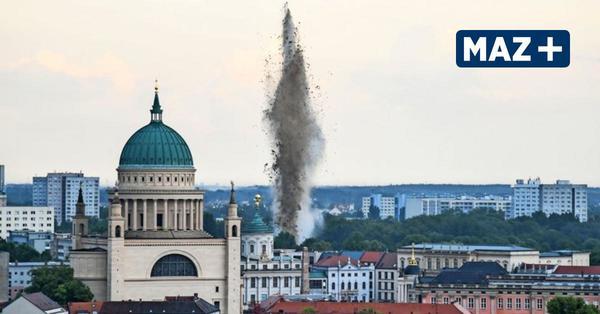 So lief die Sprengung der Weltkriegsbombe in Potsdam