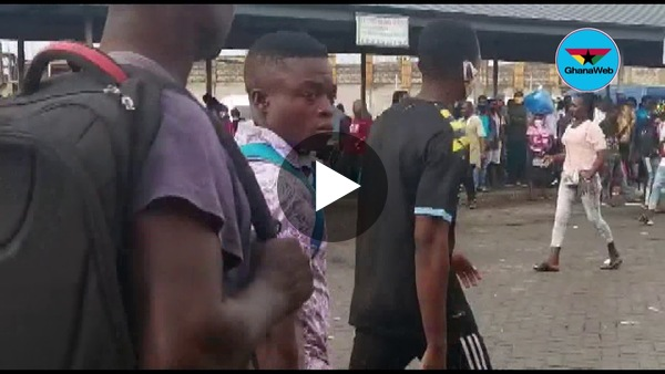 Eyes on the Ground: Hoards of people stranded at Kasoa after Monday morning's rain