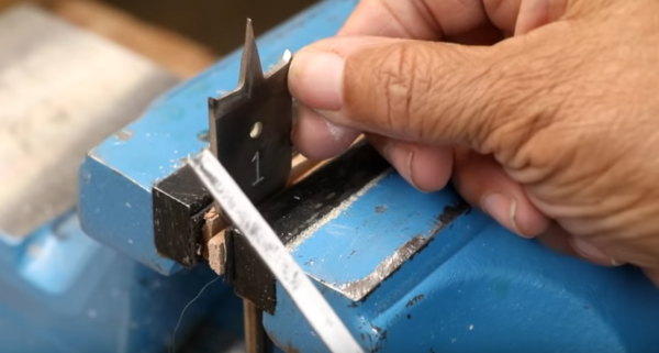 It's easy to sharpen spade bits.