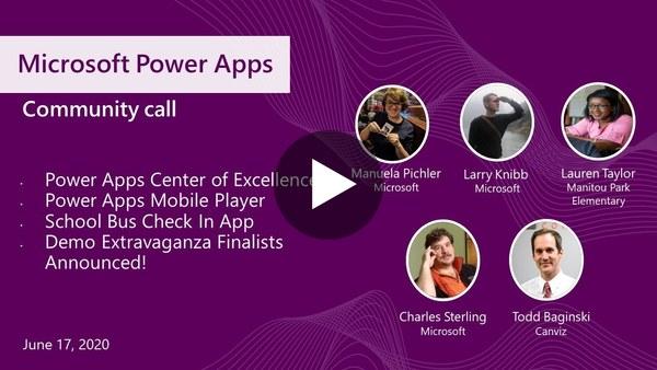 Microsoft Power Apps community call-June 2020