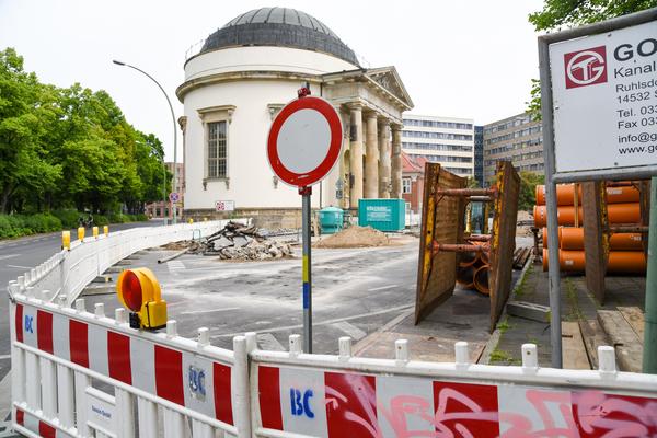 Baustelle Charlottenstraße vor der Französischen Kirche. Foto: Varvara Smirnova