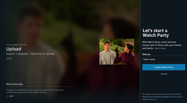 """Amazon Prime Video Rolls Out """"Watch Party"""" to Stream With Up to 100 Friends"""