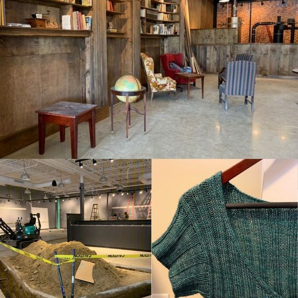 Maya's new coffee shop and sweater project!