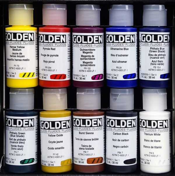 Paint the color on the outside so that you can clearly see it when stored.