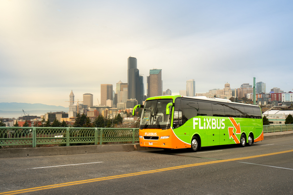 Tech friendly FlixBus on the road again between Seattle and Portland with new safety measures