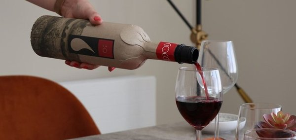 Sustainable packaging company launches wine bottle made from 94% recycled paper