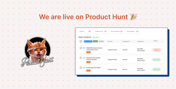 We are on ProductHunt!