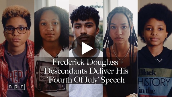 "In case you haven't seen it yet, here's Frederick Douglass's famous speech, ""What To The Slave Is The Fourth Of July?"" read by his descendants. It's powerful. (7 min)"