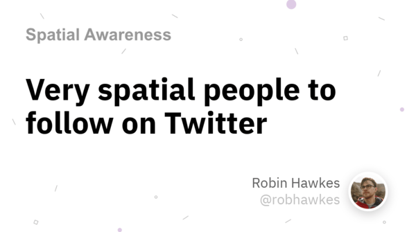 Very spatial people to follow on Twitter