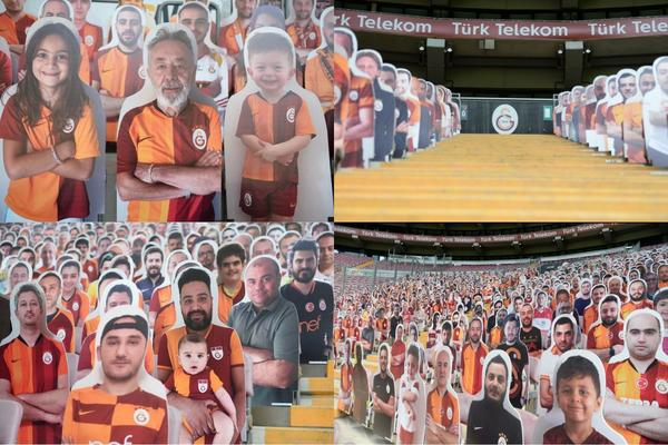 Cardboard cutout fans from enisd1905 at https://www.reddit.com/r/galatasaray/