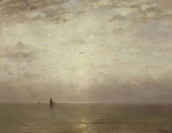 'Sunset' ca. 1887 - olieverf op doek: Hendrik W. Mesdag (herkomst: coll. Musée d'Orsay, Paris)