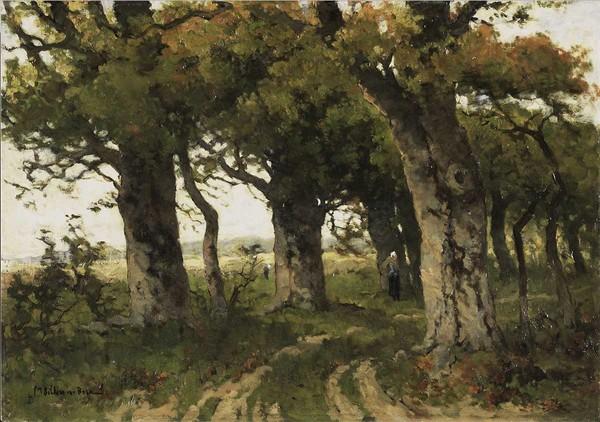 'Eikenlaan in de nazomer' - olieverf op doek: Marie Bilders-van Bosse (herkomst: coll. Rijksmuseum Amsterdam)