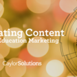 Curating Content for Prospective Marketing   Caylor Solutions