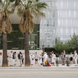 A Group Dressed in White Performed a Santería Ritual in Front of the LAPD Headquarters to Honor All Who Have Been Killed by Police ~ L.A. TACO