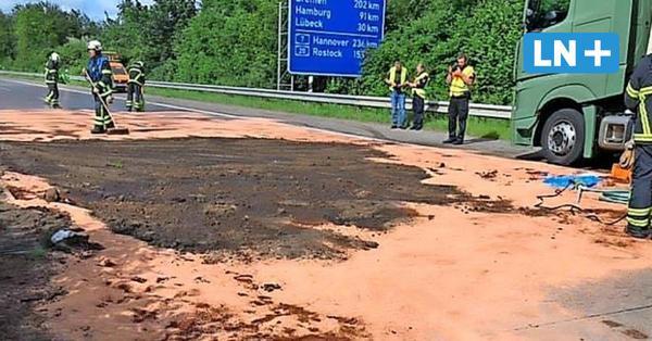 A1 bei Neustadt wieder frei: Lkw verlor Hunderte Liter Diesel