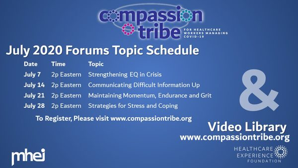 Compassion Tribe July Topic Schedule