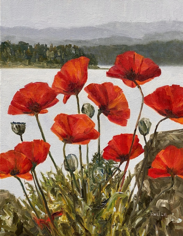 Sold - Poppies Beside The Sea Revisited by Terrill Welch.