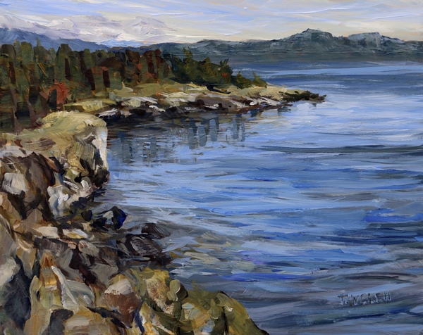 Sold - October Helliwell Cliffs by Terrill Welch.