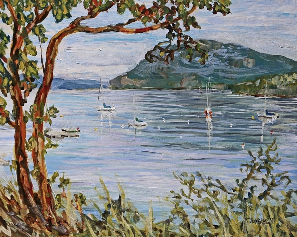 Sold - Morning Promise Village Bay by Terrill Welch.