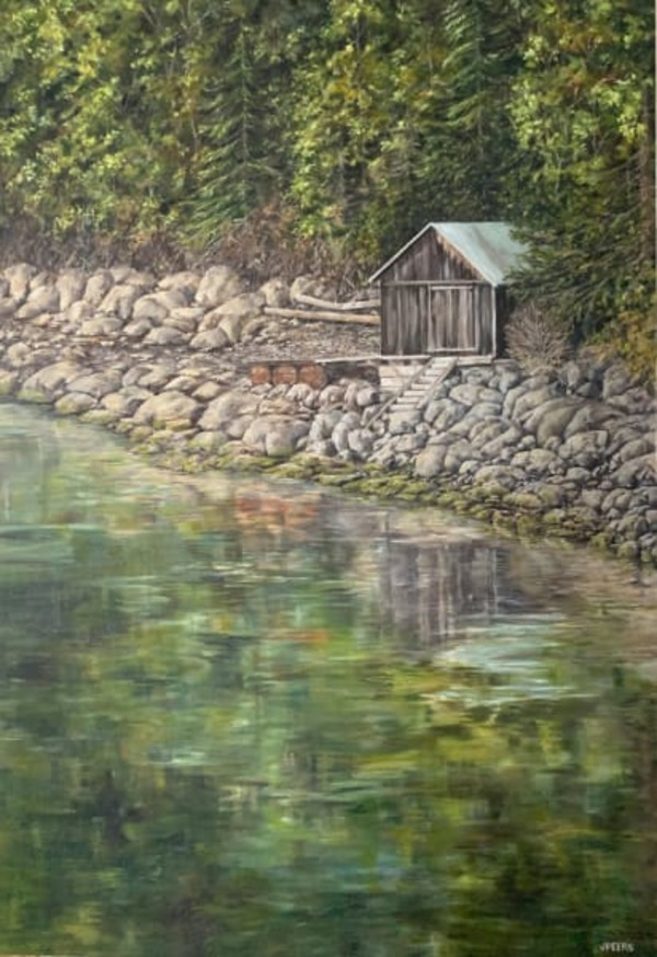 Charlie's Boat House by Jennifer Peers | Artwork Archive