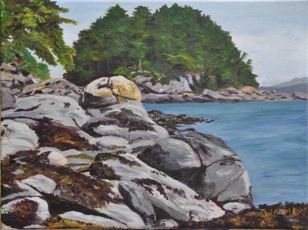 Rocky Shore by Jody Waldie   Artwork Archive