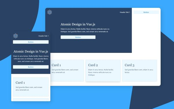 How to structure a Vue.js app using Atomic Design and TailwindCSS