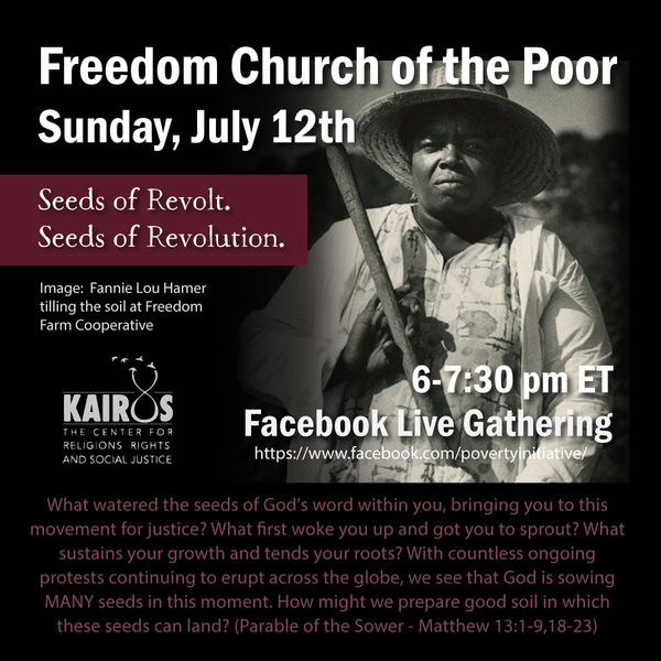 Live Every Sunday Evening on Facebook: Freedom Church of the Poor (6pm EST)