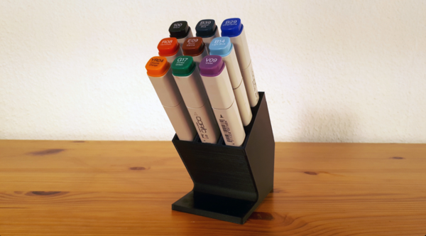 3D printable custom pen holders.