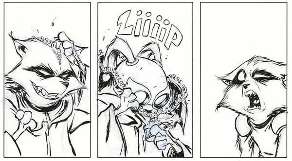 Skottie Young - Rocket Raccoon Original Comic Art
