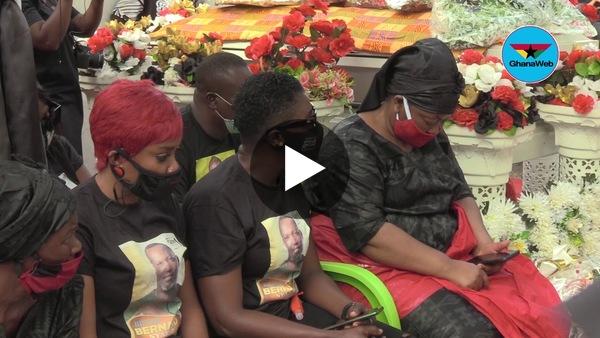 Christiana Awuni, others wail as Bishop Nyarko's body is taken away